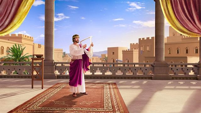 Storie della Bibbia: Davide canta le lodi del Signore