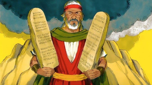 Storie della Bibbia decretare i dieci comandamenti