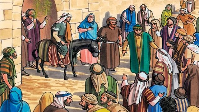 Storie della Bibbia: ingresso trionfale di Gesù a Gerusalemme