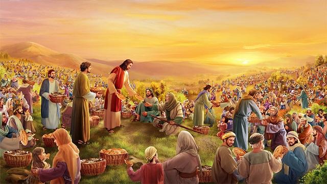 Storie della Bibbia: moltiplicazione dei pani per cinquemila uomini