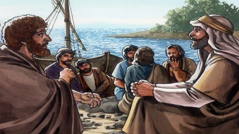 Storie della Bibbia gesu e pietro