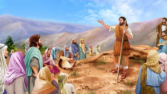 Storie della Bibbia: predicazione di Giovanni il battista