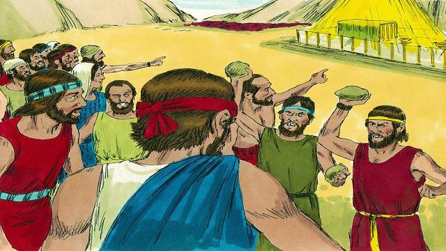 Storie della Bibbia: mormorii del popolo, Il fuoco del Signore