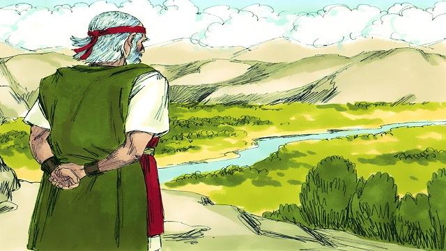 Le ultime parole di Mosè —— Gli israeliti entrano nella terra di Canaan.