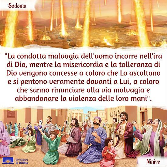 La gente della città di Ninive prega Dio