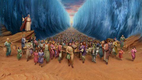 Mosè guidò gli israeliti attraverso il Mar Rosso
