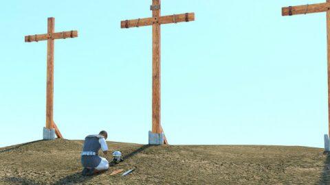 La preghiera prima della croce