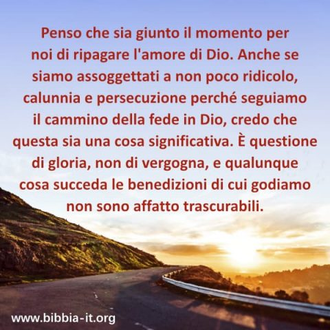 ripaga l'amore di Dio