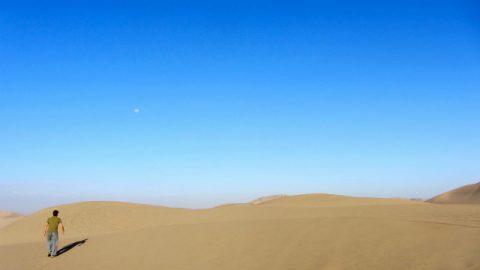 Pedoni nel deserto