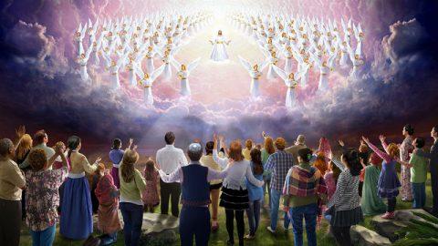 Dio,angelo,credente,culto,cielo,trono,luce