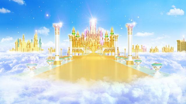 regno dei cieli,Paradiso,nuvole,cielo,castello