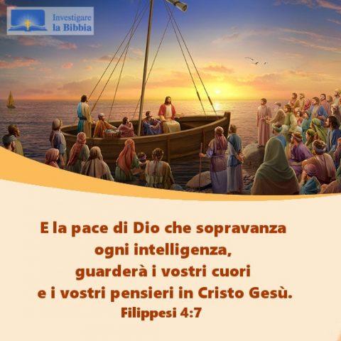 Gesù predicò ai discepoli sulla barca in riva al mare