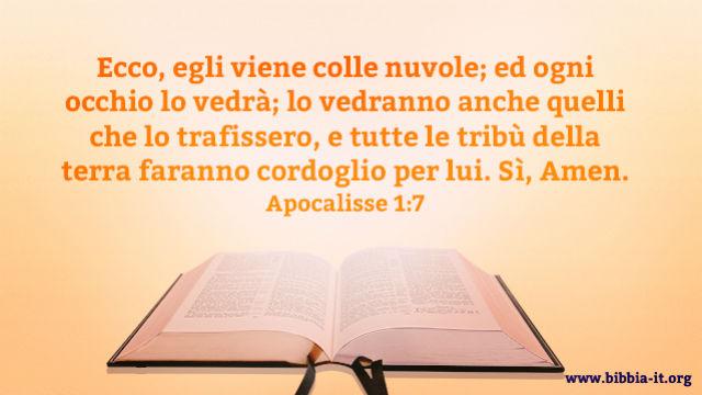 apocalisse scritto sulla Bibbia
