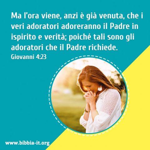Lei pregare a Dio