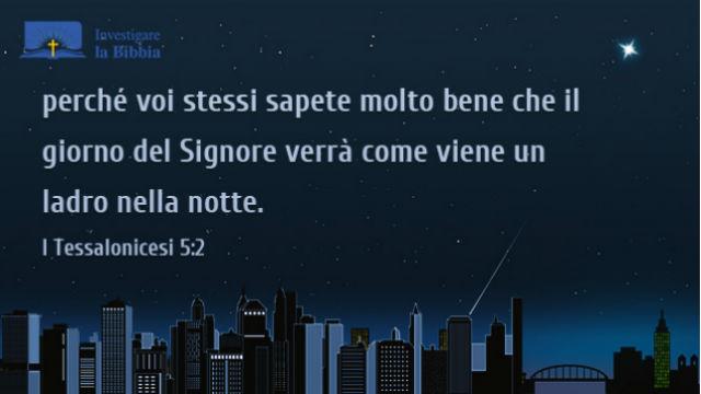 Una città entra nella notte fatta da Dio