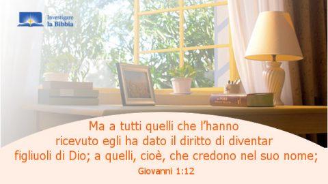 la parola di Dio vicino alla finestra