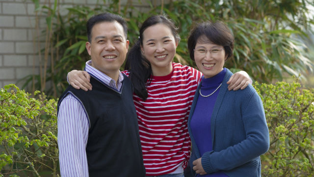 Famiglia cristiana felice