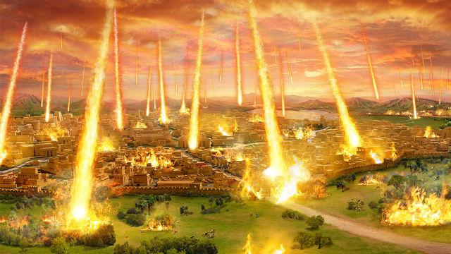 Dopo la ripetuta opposizione e ostilità di Sodoma verso di Lui, Dio la cancella completamente