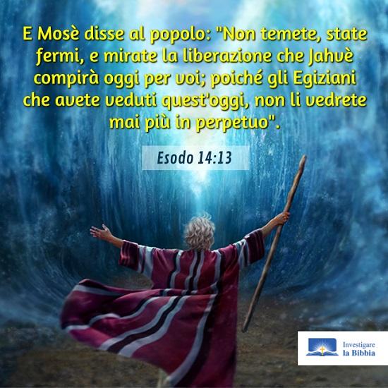 Mosè e gli israeliti attraversarono il Mar Rosso