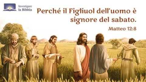 Sabbath Gesù e discepoli attraverso il campo di grano