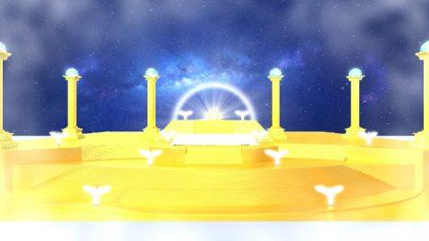 grande trono bianco