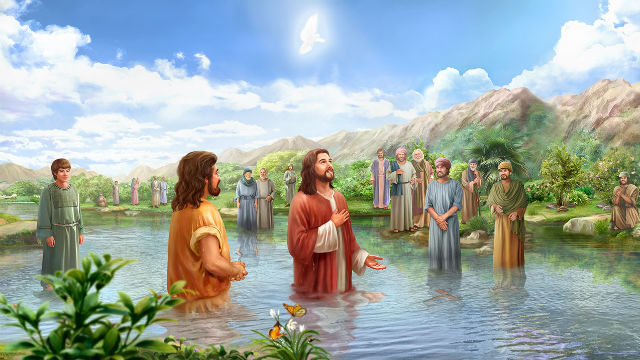 Il battesimo di Gesù Cristo nel fiume Giordano