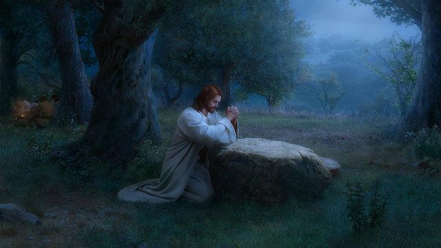 Il Signore Gesù prega nel giardino di Kismani
