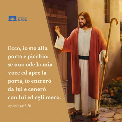 il Signore Gesu sta bussando alla porta
