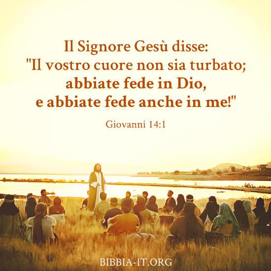 Frasi Bibliche Giovanni 14 1