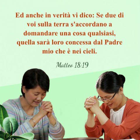 due cristiane pregano a Gesu