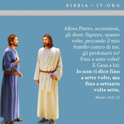 Il Signore Gesù e Pietro parlano