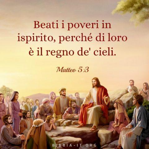 Frasi bibliche Matteo 5