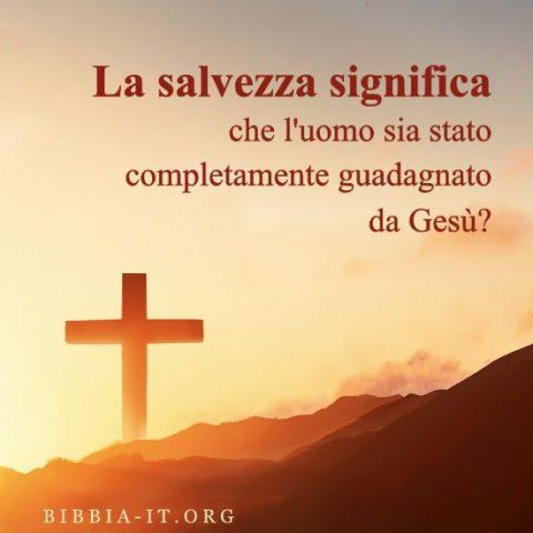 la salvezza della croce