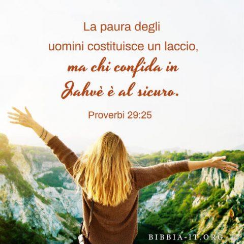 la Bibbia Proverbi 29-25