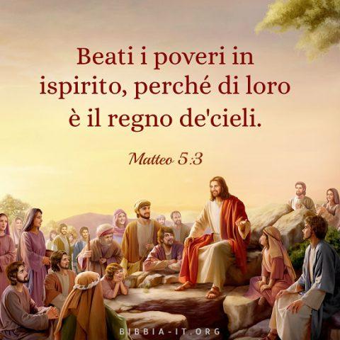 Gesù predicò sulla montagna alle persone che Lo seguivano.