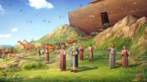 La benedizione di Dio a Noè dopo il diluvio