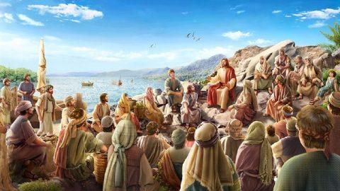 Il Signore Gesù predica sulla montagna