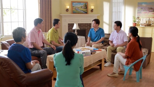 I cristiani stanno facendo una riunione