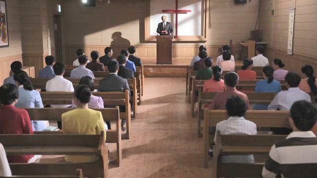 I cristiani stanno facendo le riunione