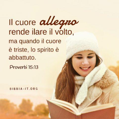 Frasi bibliche Proverbi 15