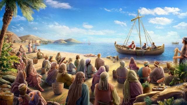 Il Signore Gesù predicò sulla barca da pesca