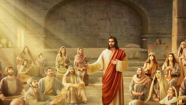 Il Signore Gesù predicò ai discepoli nella sinagoga