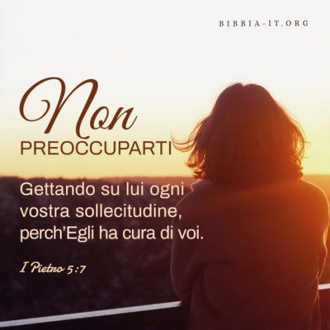 Frasi bibliche Non preoccuparti