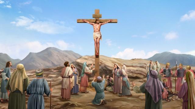 Il Signore Gesù fu crocifisso