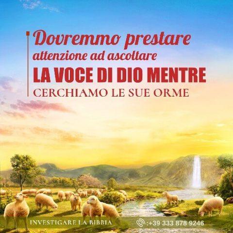 Dovremmo prestare attenzione ad ascoltare la voce di Dio mentre cerchiamo le Sue orme
