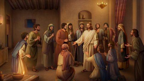 Gesù parla ai discepoli dopo la resurrezione